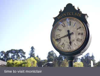 montclair village oakland - clock